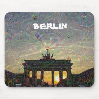 DeepDream Berlin, Brandenburg Gate Mouse Pad