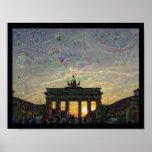 DeepDream Berlin, Brandenburg Gate Poster