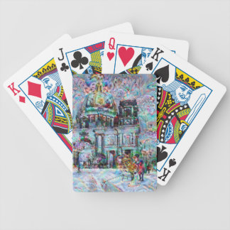DeepDream Cities Bicycle Playing Cards