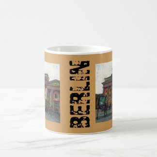 DeepDream Cities, Brandenburg Gate 002.F.T, Berlin Coffee Mug