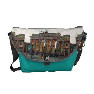 DeepDream Cities, Brandenburg Gate, Berlin Courier Bag
