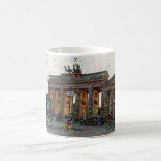 DeepDream Cities, Brandenburg Gate, Berlin Magic Mug