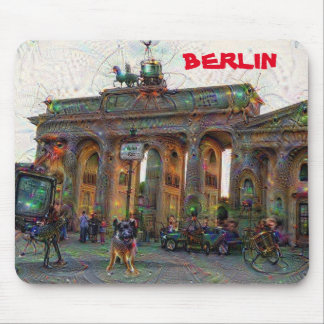 DeepDream Cities, Brandenburg Gate, Berlin Mouse Pad