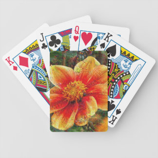 DeepDream Flowers Bicycle Playing Cards
