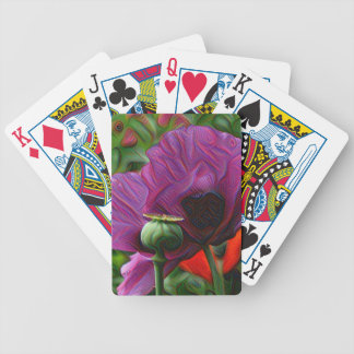 DeepDream Flowers, Poppies Bicycle Playing Cards