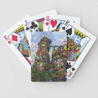 DeepDream Pictures Bicycle Playing Cards