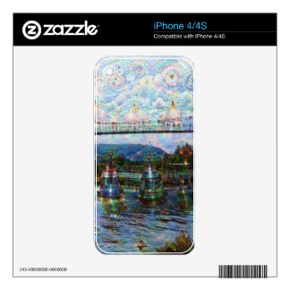 DeepDream Pictures, Boat Skin For iPhone 4
