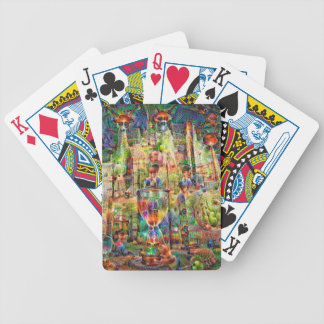DeepDream Pictures, Cathedral Bicycle Playing Cards