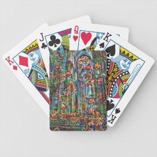 DeepDream Pictures, II Cathedral Bicycle Playing Cards