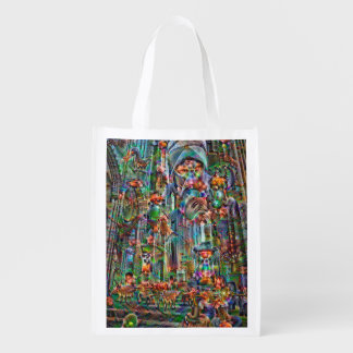DeepDream Pictures, II Cathedral Grocery Bag