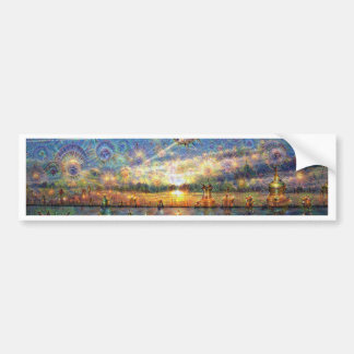 DeepDream Pictures, Landscapes Bumper Sticker