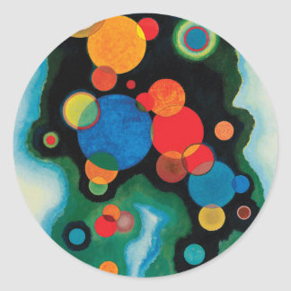 Deepened Impulse by Wassily Kandinsky Classic Round Sticker