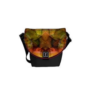 Deepening Mystery Rich Floral Tapestry Messenger Bag