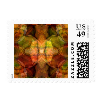 Deepening Mystery Rich Floral Tapestry Postage Stamp