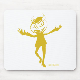 Deeper Arts Yellow Naughty Dancer Mouse Pad