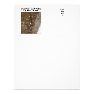 Deepest Canyons Of The Andes Picture Earth Letterhead