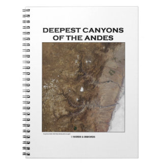 Deepest Canyons Of The Andes Picture Earth Spiral Notebook