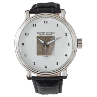Deepest Canyons Of The Andes Picture Earth Wristwatches