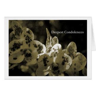 Deepest Condolences Tarjeta De Felicitación