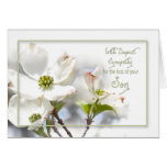 DEEPEST SYMPATHY - APPLE BLOSSOMS-SON CARD