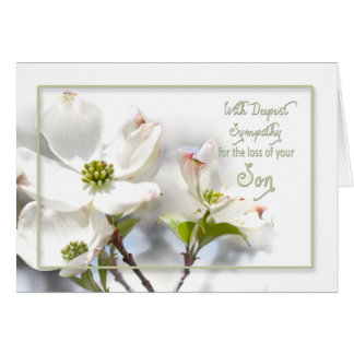 DEEPEST SYMPATHY - APPLE BLOSSOMS-SON GREETING CARD