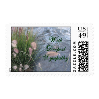 Deepest Sympathy beach photo Postage