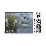 Deepest Sympathy beach photo Stamp