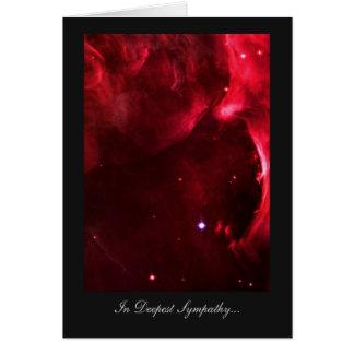 Deepest Sympathy, Bereaved, Orion Nebula Stars Card