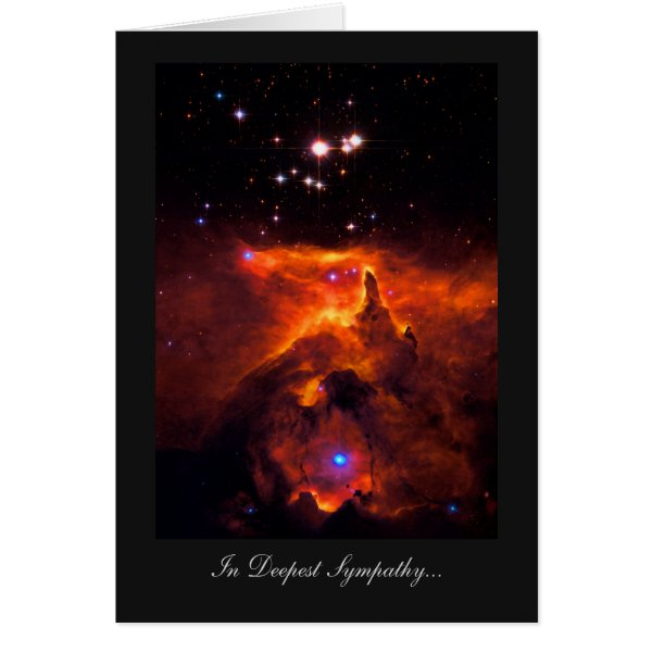 Deepest Sympathy, Bereaved, Star Cluster Universe Card