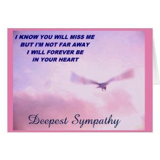 Deepest Sympathy, I'll Miss You_ Card
