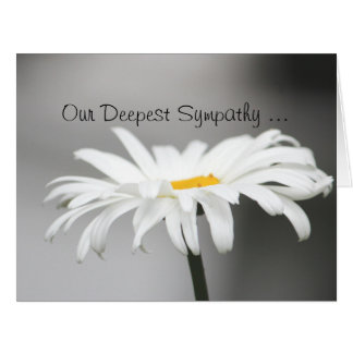 Deepest Sympathy Note Card