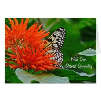 Deepest Sympathy with butterfly Greeting Card