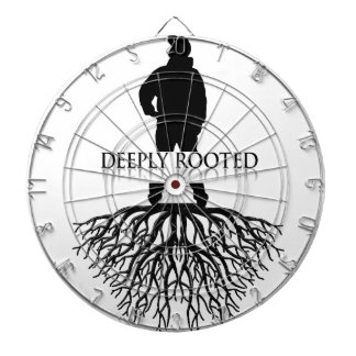 Deeply Rooted Dartboard With Darts