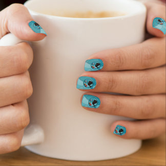 Deepsea diver fish and whale minx ® nail wraps