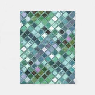 DeepSea Tiles Custom Mosaic Art Personalized Gift Fleece Blanket