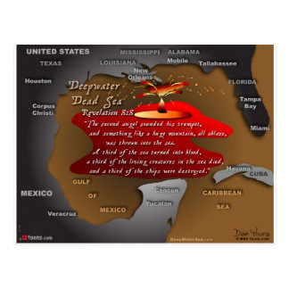 DeepWater Dead Sea Revelation 8:8 Postcard