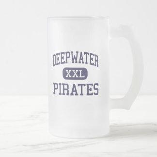 Deepwater - Pirates - Junior - Pasadena Texas Frosted Glass Beer Mug
