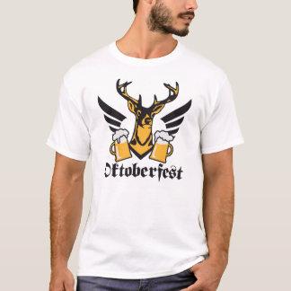 Deer accelerates wing beer Octoberfest Prost T-Shirt