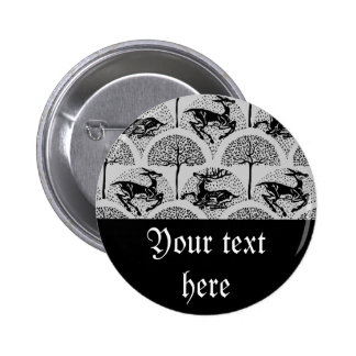 Deer Amongst The Trees, Pinback Button