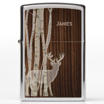 Deer and Birch Trees Zippo Lighter