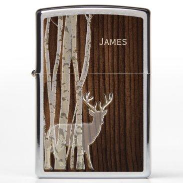 Deer and Birch Trees Zippo Lighter
