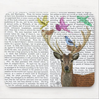 Deer and Birds Nests Pastel Shades Mouse Pad