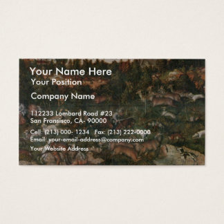 Deer And Boar Hunting By Cranach D. Ä. Lucas (Best Business Card