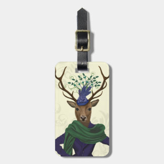 Deer and Fascinator 2 Luggage Tag