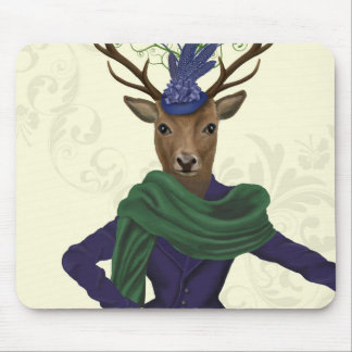 Deer and Fascinator 2 Mouse Pad