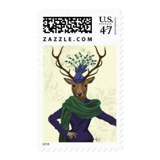 Deer and Fascinator 2 Postage