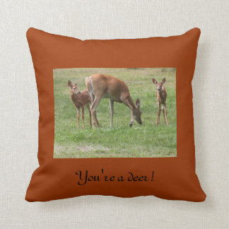 Deer and Fawn Pillow