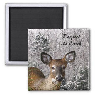 Deer and Frosty Hills Earth Day Magnet