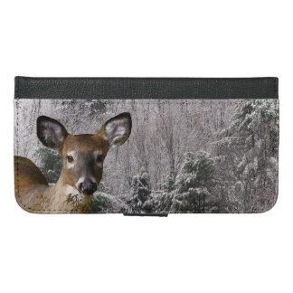 Deer and Frosty Hills iPhone 6 Plus Wallet Case