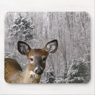 Deer and Frosty Hills Mouse Pad